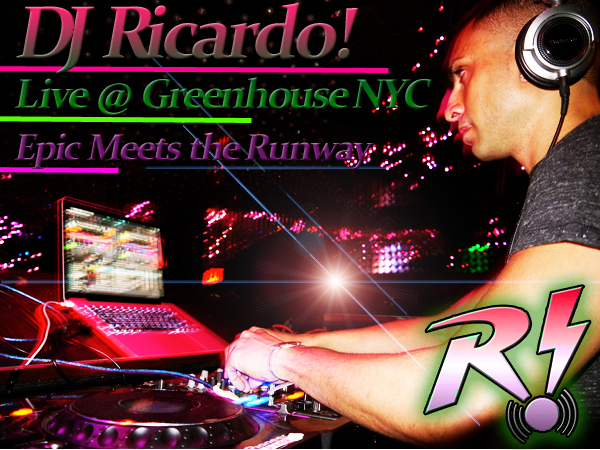 DJ Ricardo! playing live on main floor of Greenhouse for Vandam Sundays March 2012