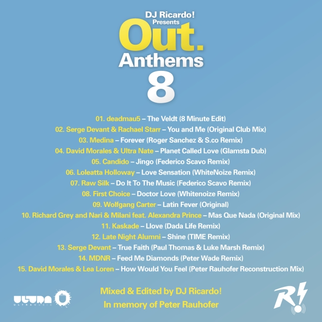 Out Anthems 8 - Tracklisting