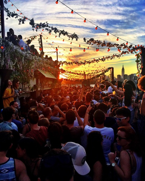 Sunset at Brooklyns Output Nightclub