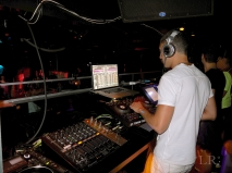 DJ Ricardo on the main floor of XL NYC