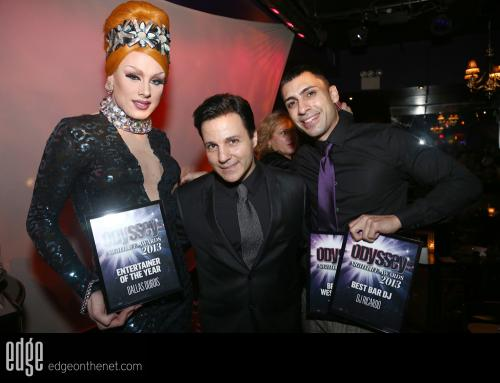 DJ Ricardo, Dalla Dubois & Frankie C at the Odyssey Magazine awards